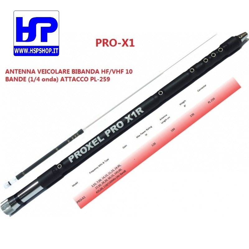 PROXEL - PRO-X1 - 11 BAND MOBILE ANTENNA