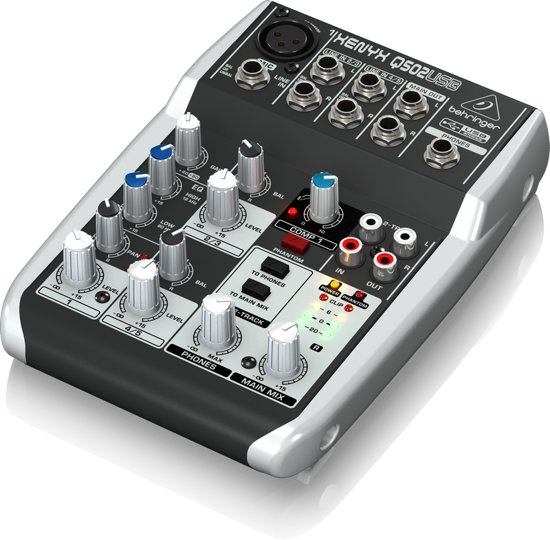 q502usb xenyx behringer 5 input usb mixer hardsoft products. Black Bedroom Furniture Sets. Home Design Ideas