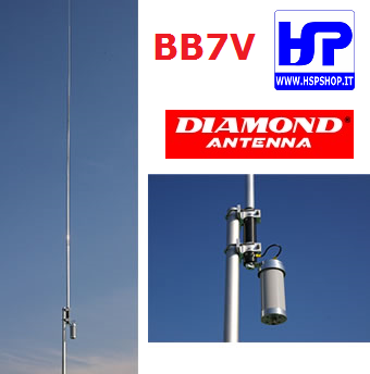 DIAMOND - BB-7V - ANTENNA VERTICALE 2-30 MHz