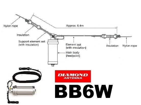 DIAMOND - BB-6WS - ANTENNA FILARE 3-30 MHz
