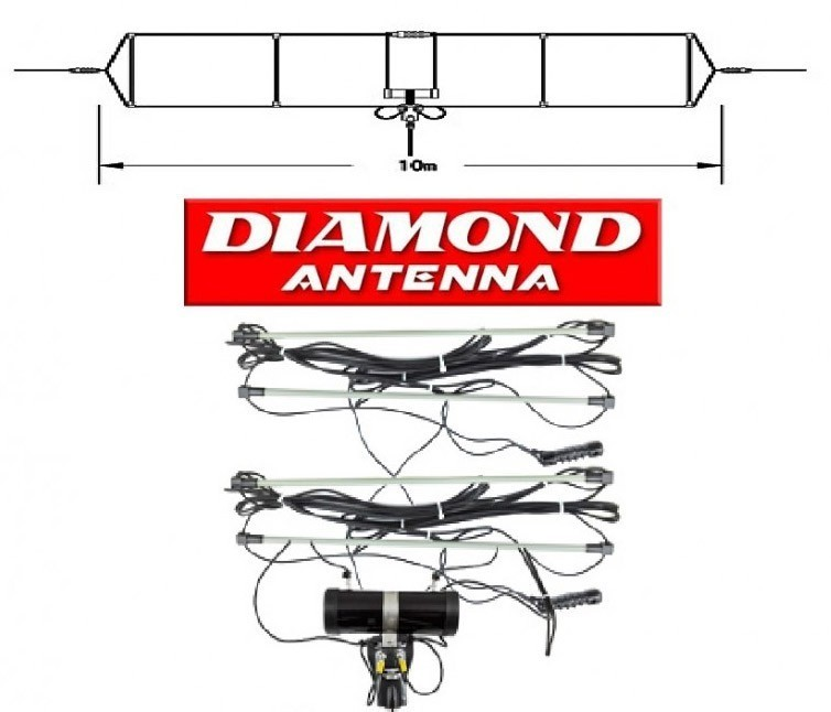 DIAMOND - WD-330S - ANTENNA WIDE BAND 2-28.6 MHz