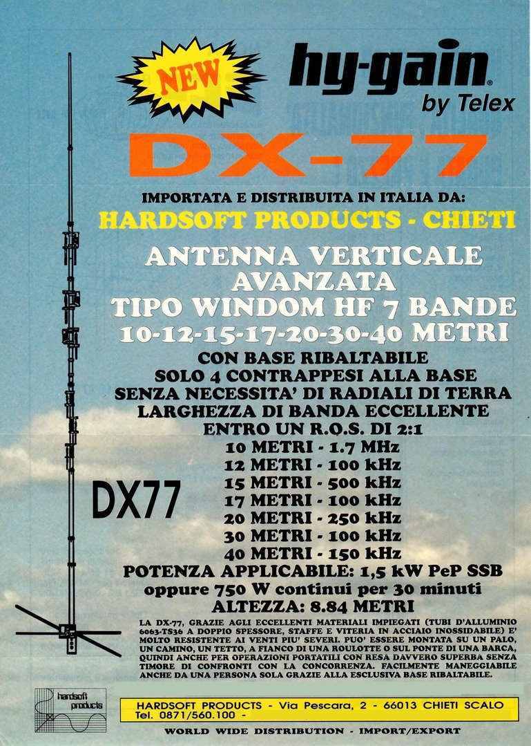 HY-GAIN - DX-77 - 7 BAND 10-40 METERS ANTENNA