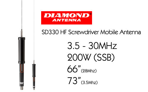 DIAMOND - SD-330 -Automatic HF mobile antenna