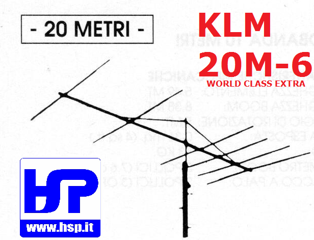 KLM - 20M-6 - 6 ELEMENT BEAM FOR 20 METERS