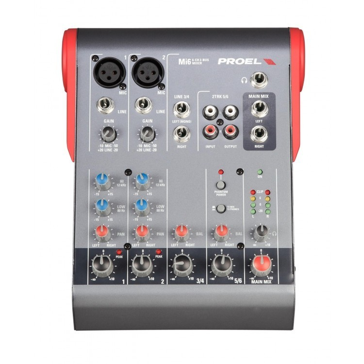 PROEL - Mi6 - MIXER COMPATTO 6 INGRESSI 2 BUS