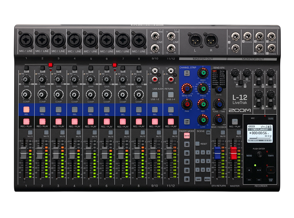 ZOOM - L-12 - MIXER E REGISTRATORE DIGITALE