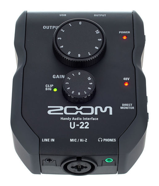 ZOOM - U-22 - 2x2 AUDIO INTERFACE 24 bit
