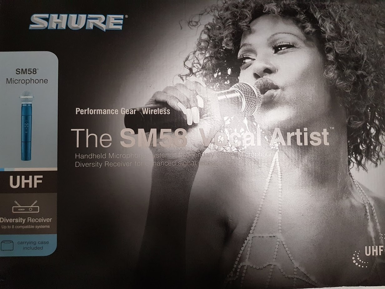 SHURE - EUT24/58 - SM58 WIRELESS MICROPHONE