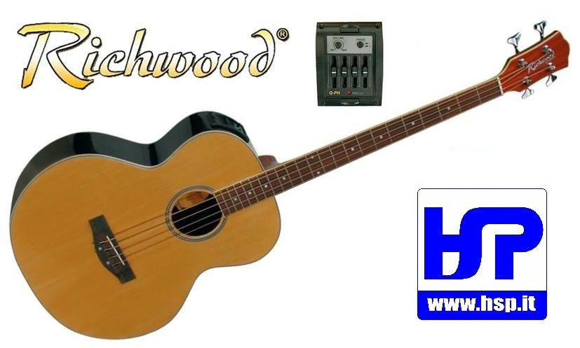 RICHWOOD - RB-60-E - ACOUSTIC BASSGUITAR