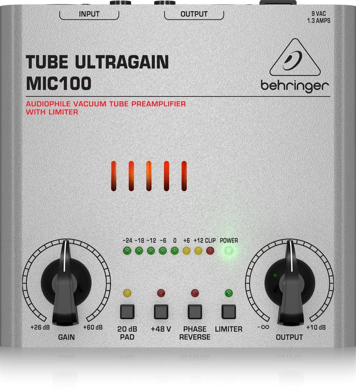 BEHRINGER - MIC100 - PREAMPLIFICATORE MIC.