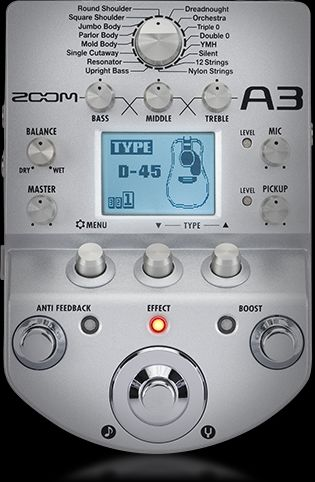 ZOOM - A3 - ACOUSTIC GUITAR MULTI-EFFECTS