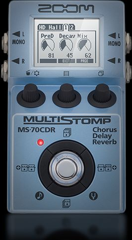 ZOOM - MS-70CDR - MULTI-EFFECTS PEDAL