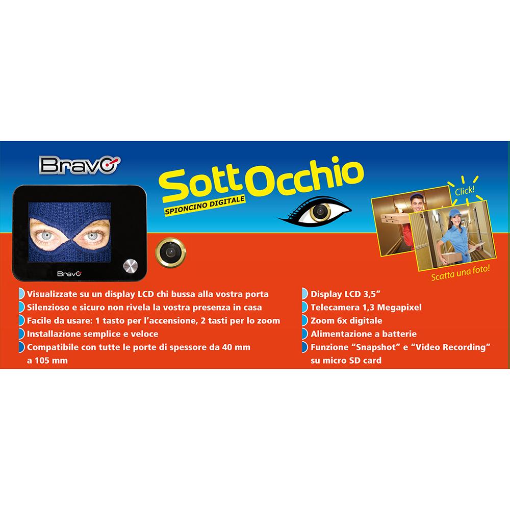 Allarmi telecamere videosorveglianza hardsoft products for Spioncino digitale bravo