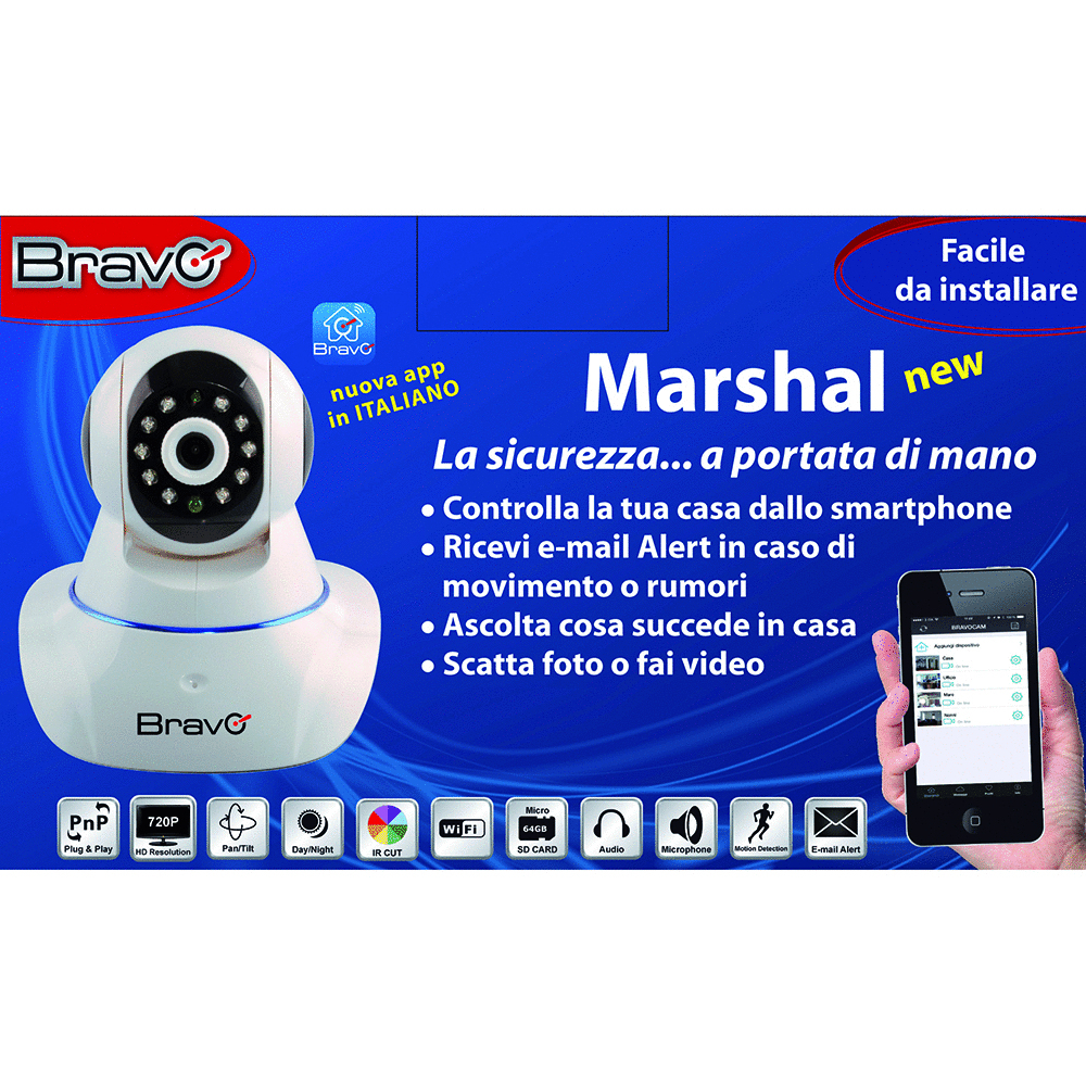 BRAVO - MARSHAL NEW - WIFI NETWORK CAMERA