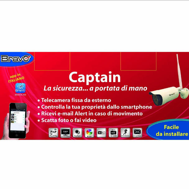 BRAVO - CAPTAIN - WIFI NETWORK CAMERA