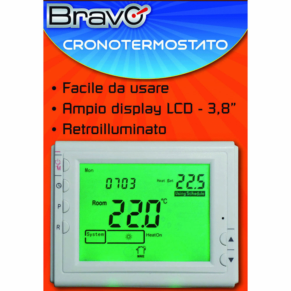 BRAVO - CRONOTERMOSTATO DIGITALE
