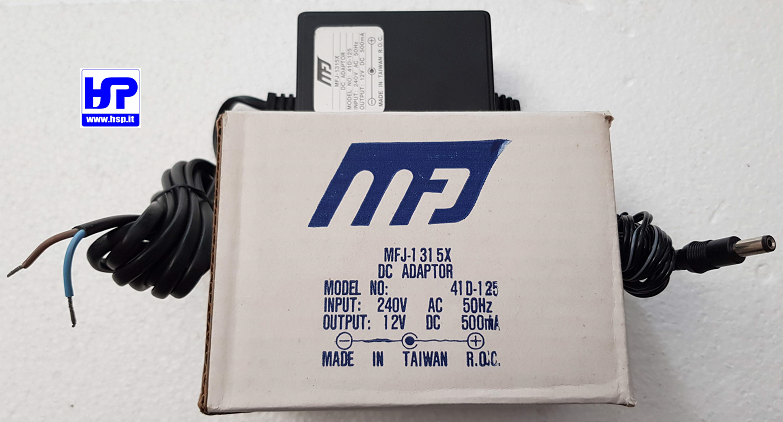 MFJ-1315X - DC 12V 500 mA LINEAR POWER SUPPLY
