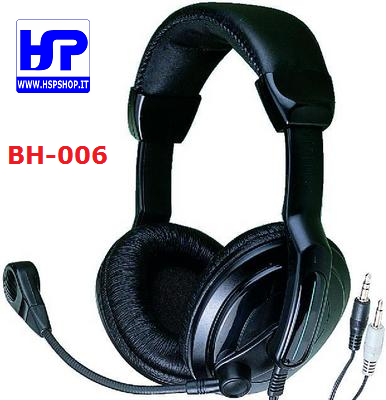 BH-006 - HEADPHONES WITH DYNAMIC MICROPHONE
