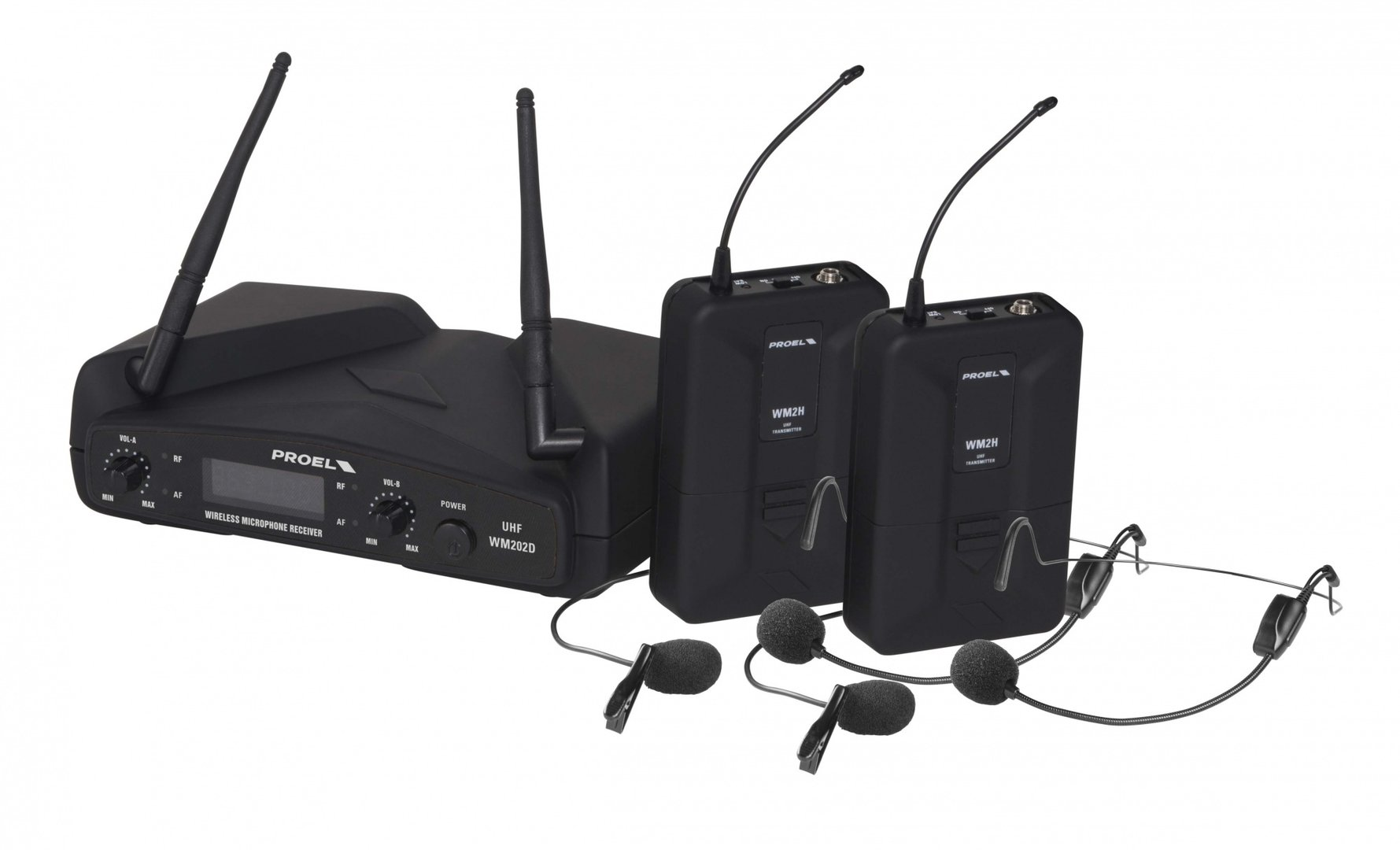 PROEL - WM202DH -DUAL HEADSET WIRELESS SYSTEM