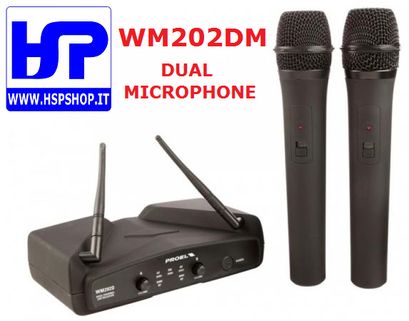 PROEL - WM202DM - DUAL WIRELESS MICROPHONE