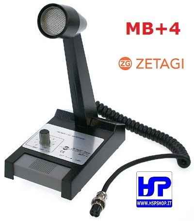 ZETAGI - MB+4 - BASE AMPLIFIED MICROPHONE