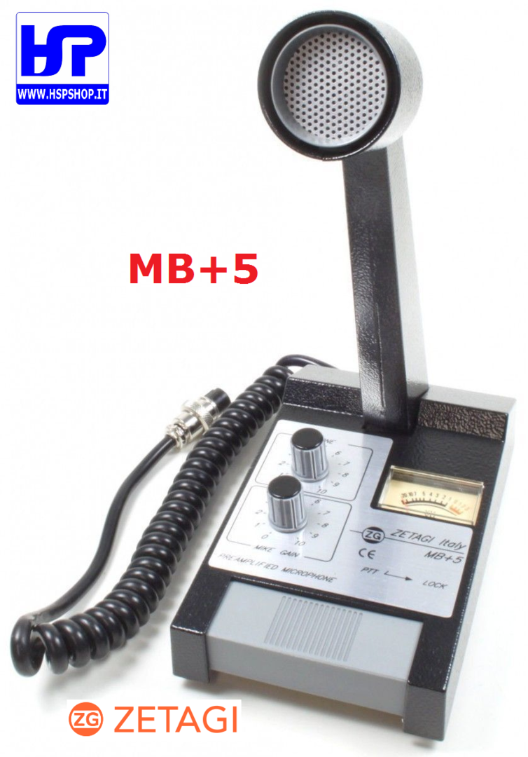 ZETAGI - MB+5 - BASE AMPLIFIED MICROPHONE