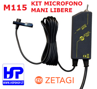 ZETAGI - M115 - FREE HANDS MICROPHONE KIT