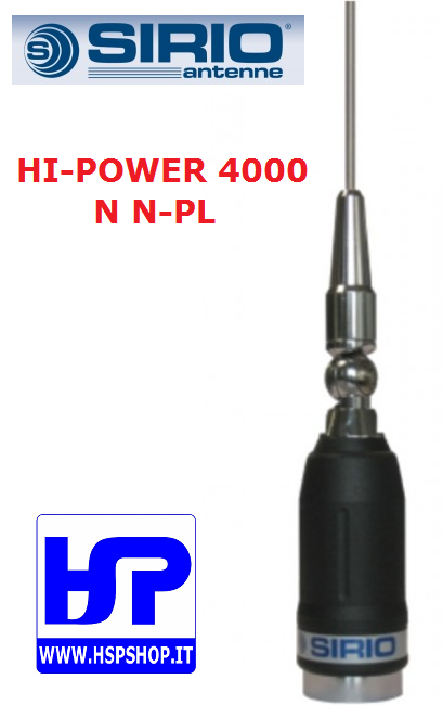 SIRIO - HI-POWER 4000 N N-PL - MOBILE ANTENNA