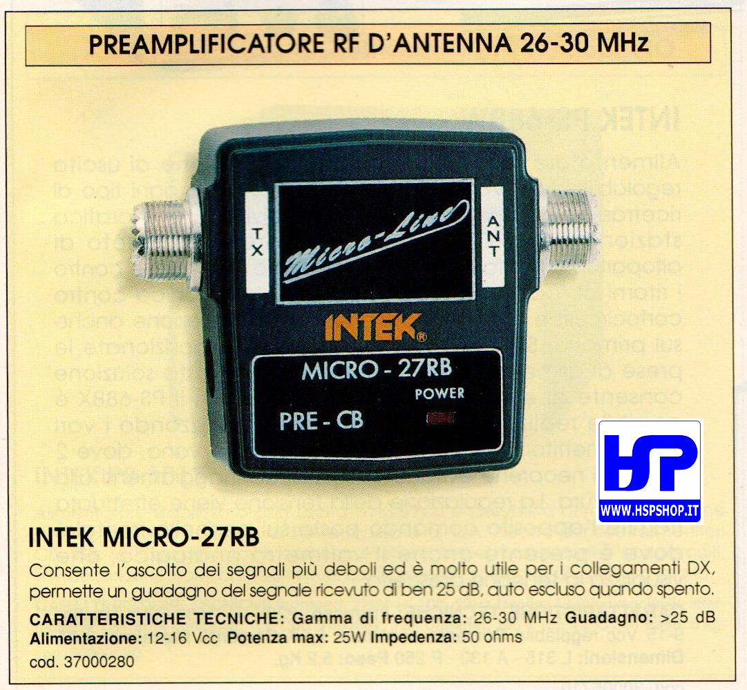 INTEK - MICRO-27RB - PREAMPLIFICATORE 26-30