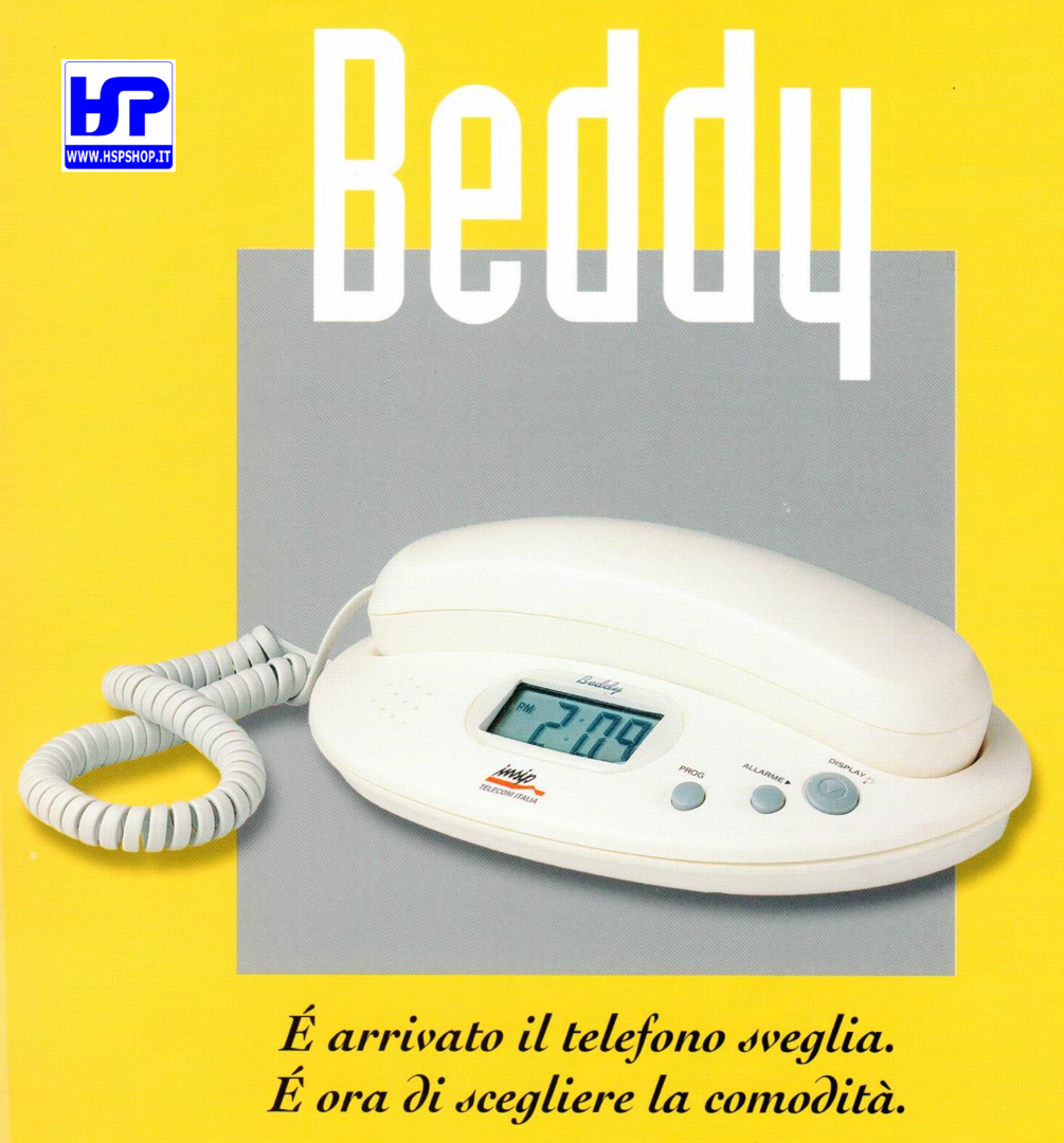 INSIP - BEDDY - PSTN BASE TELEPHONE W/ CLOCK