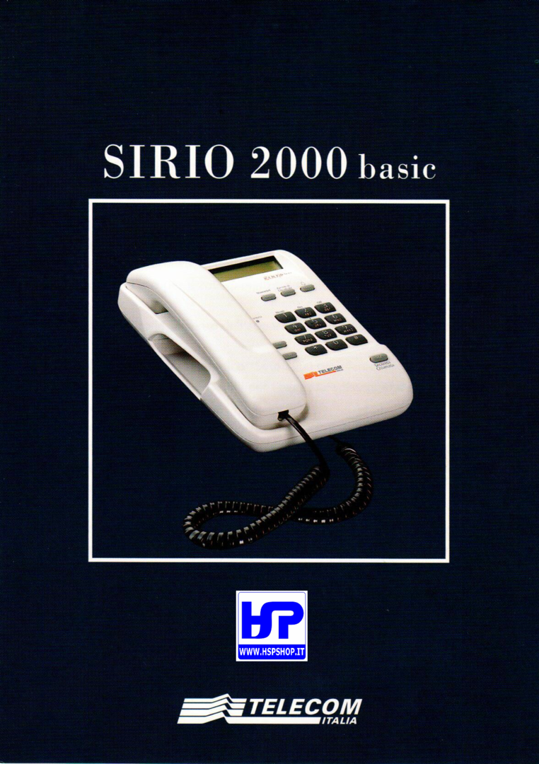INSIP - SIRIO 2000 BASIC - TELEPHONE