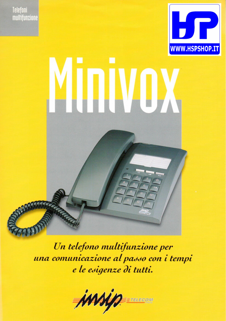 INSIP - MINIVOX - MULTI-FUNCTIONS TELEPHONE