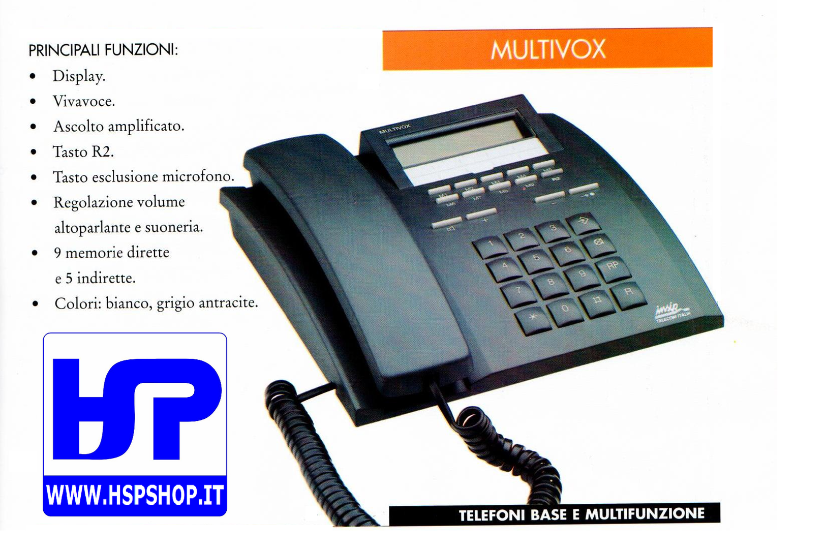 INSIP - MULTIVOX - MULTI-FUNCTIONS TELEPHONE