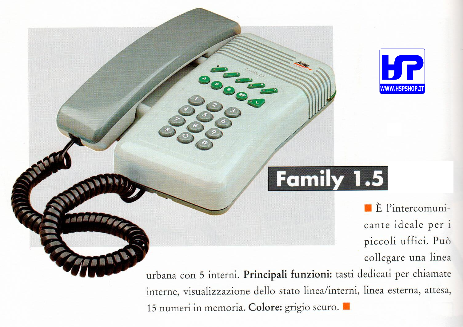 TELECOM - FAMILY 1.5 - TEL. INTERCOMUNICANTE