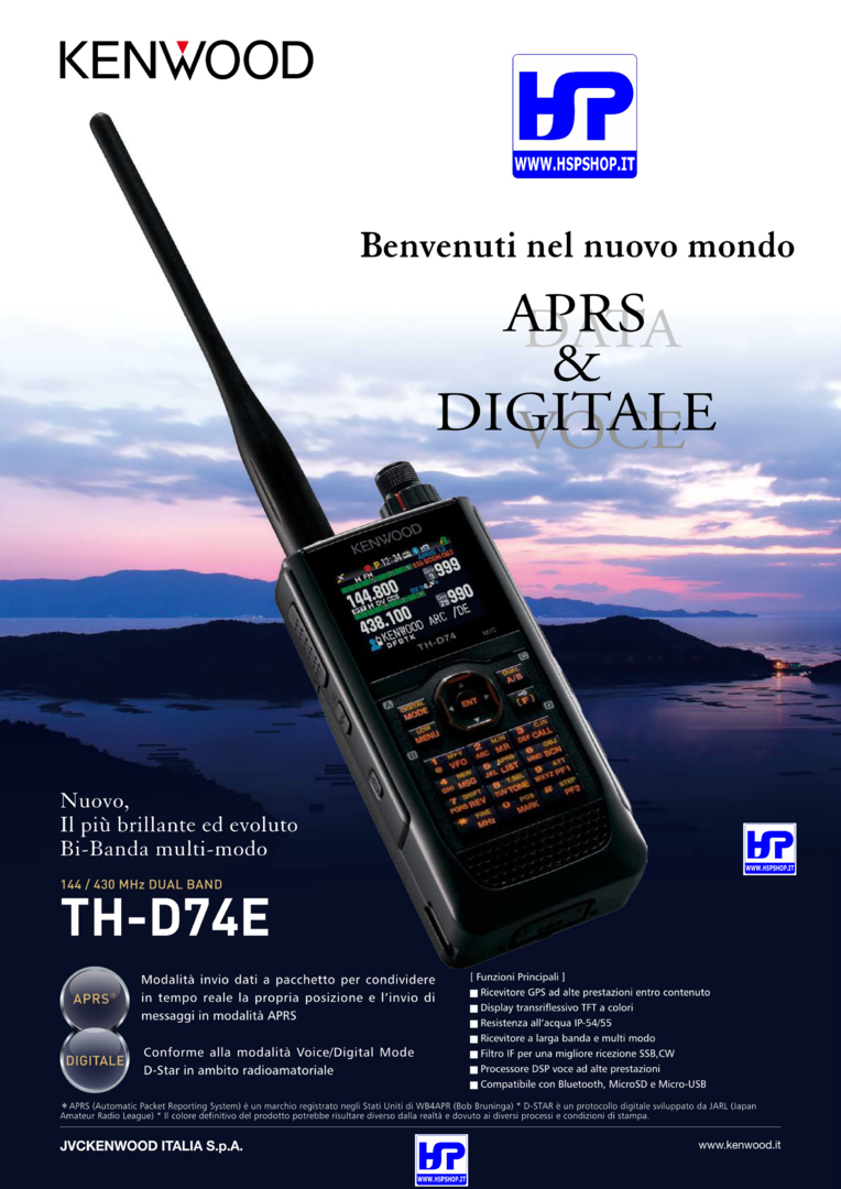 KENWOOD - TH-D74E - DUAL BAND VHF/UHF + GPS