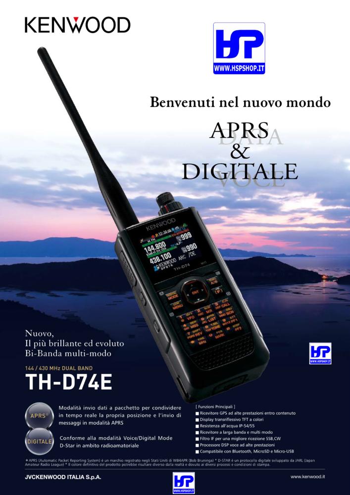 KENWOOD - TH-D74E - DUAL BAND VHF/UHF + GPS - HardSoft Products