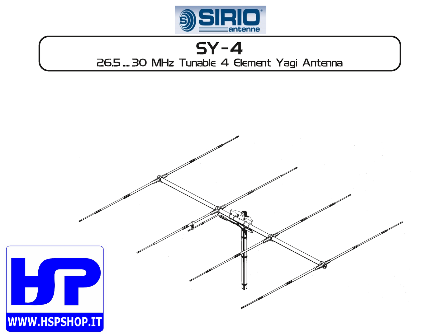 SIRIO - SY-4 - 4 ELEMENT BEAM 26.5-30 MHz