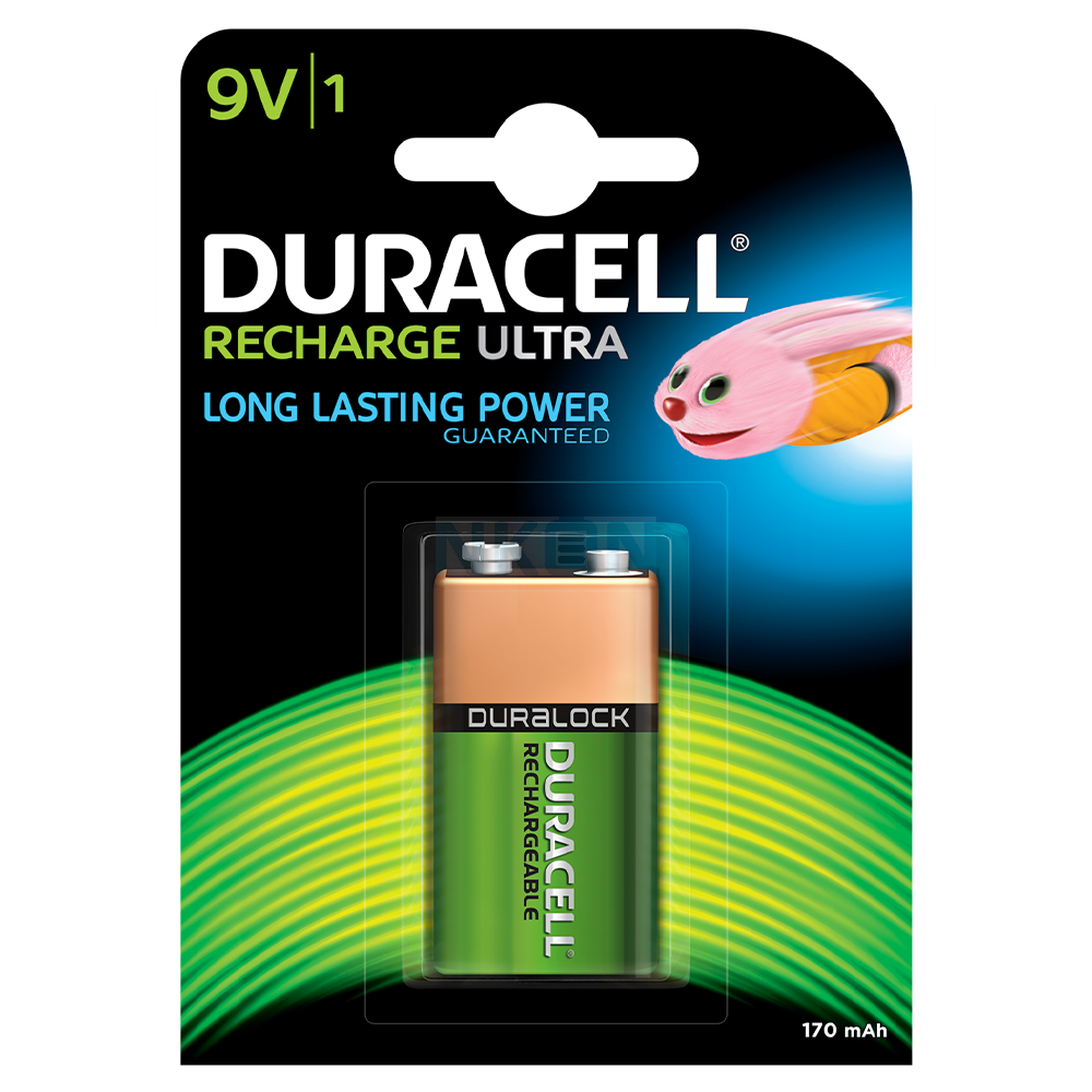 RECHARGEABLE BATTERY NI-MH 9V DURACELL