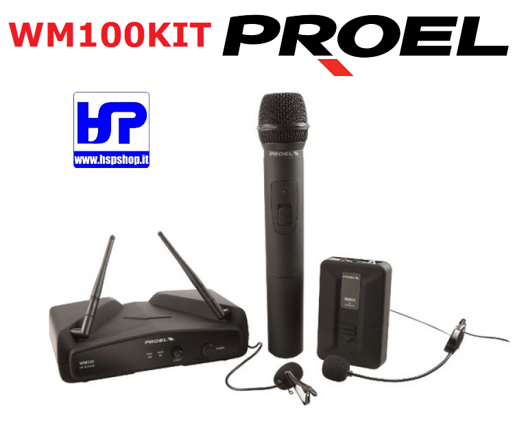 PROEL - WM100KIT - DUAL MICROPHONE SYSTEM