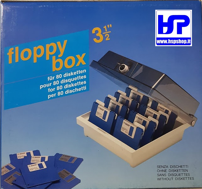 BOX FOR 80 FLOPPY DISKS 3.5""