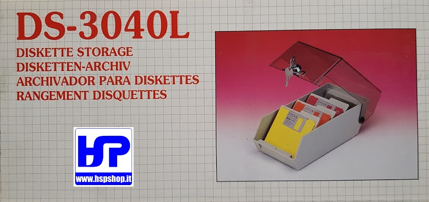 DS-3040L - BOX FOR 40-50 FLOPPY DISKS 3.5""