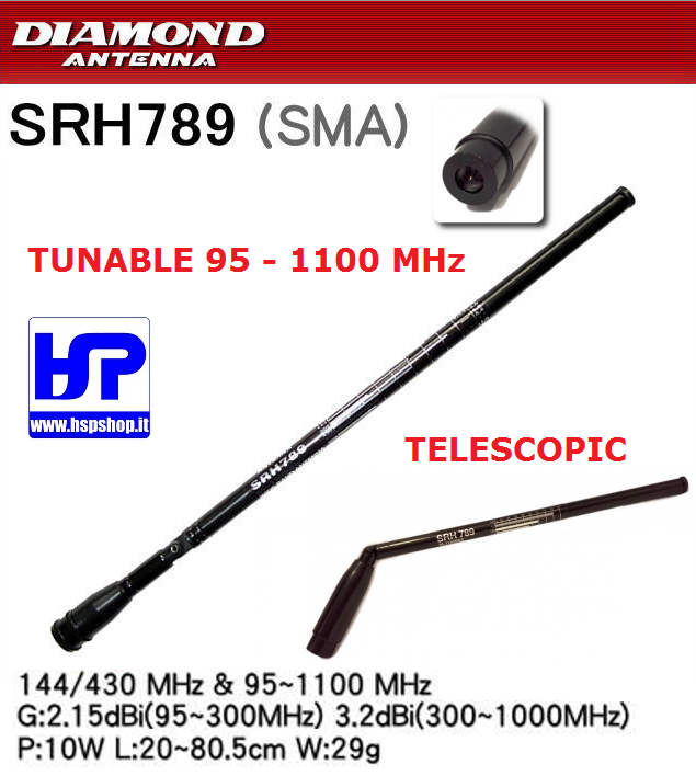 DIAMOND - SRH-789 - TUNABLE 95-1100 MHz