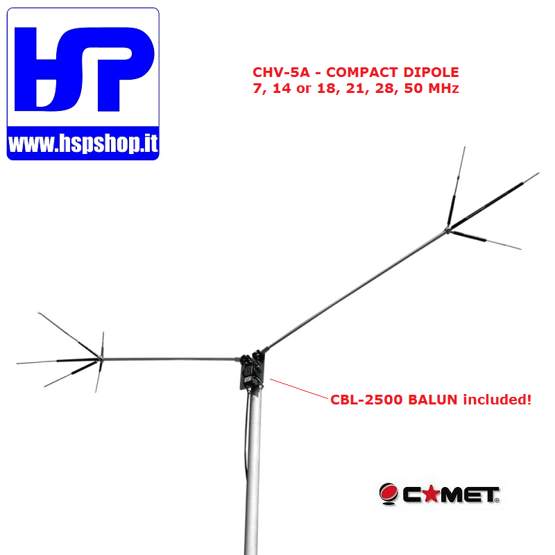 COMET - CHV-5A - 5 BAND COMPACT DIPOLE