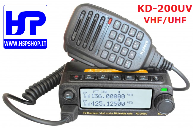 KYDERA - KD-200UV - DUAL BAND VHF/UHF MOBILE